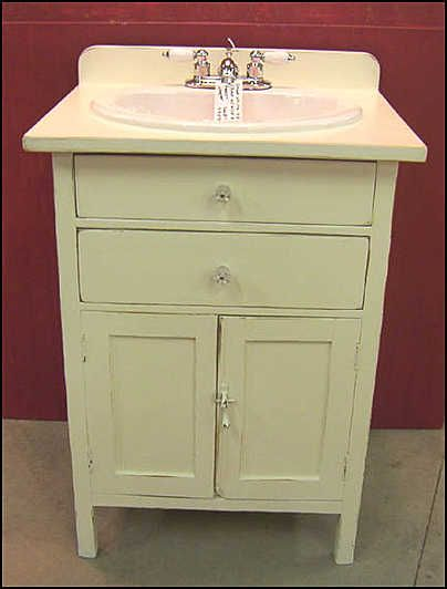 country bathroom vanities and cabinets | ... - Antique Bathroom Vanity: Old Kitchen Cabinet for Vanity with Sink