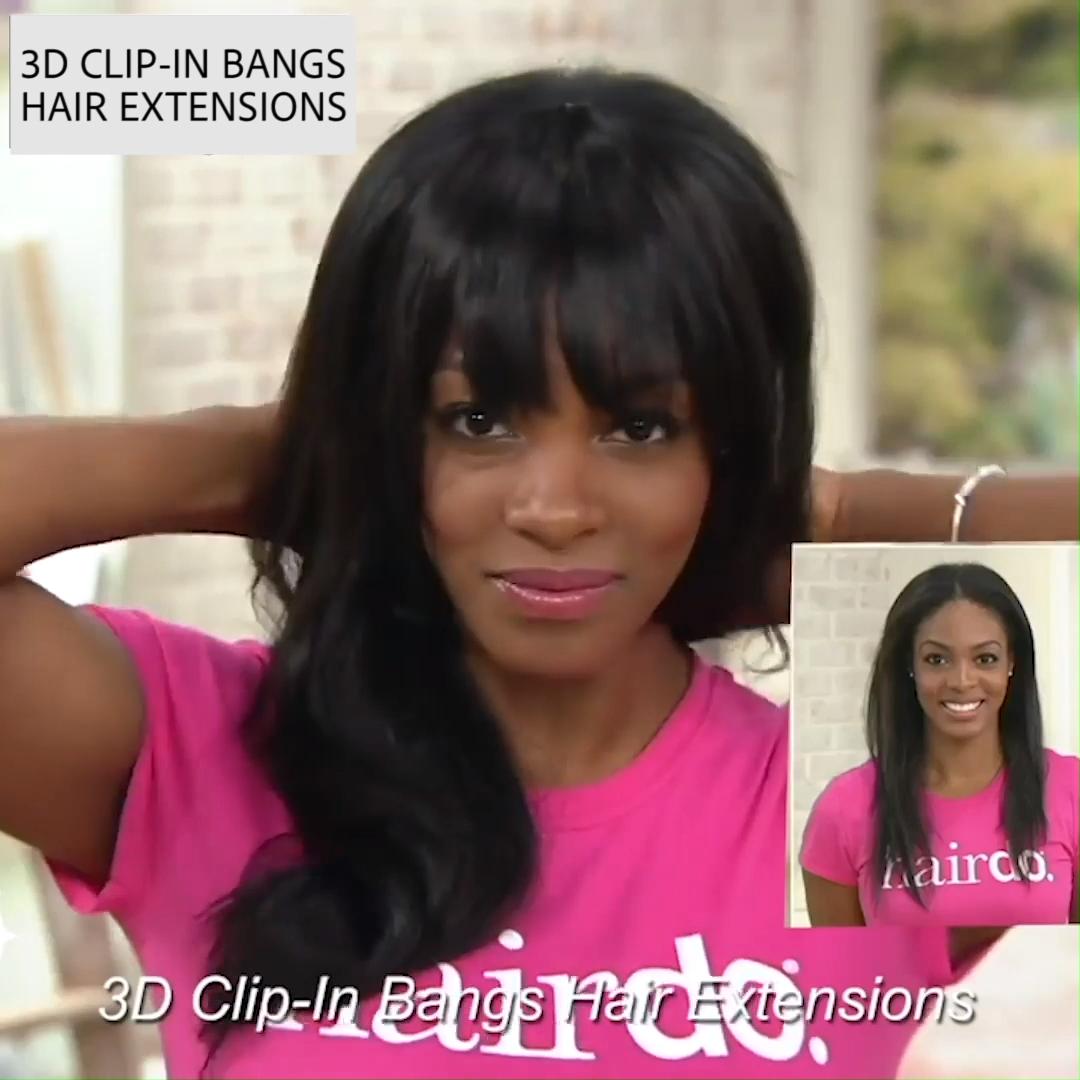 3D Clip-In Bangs Hair Extensions – 3D Clip-In Bangs Hair Extensions – …