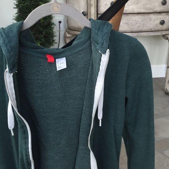 H&M Forest Green Zip Up Pockets, zipper & drawstring hood. No defects. H&M Tops Sweatshirts & Hoodies