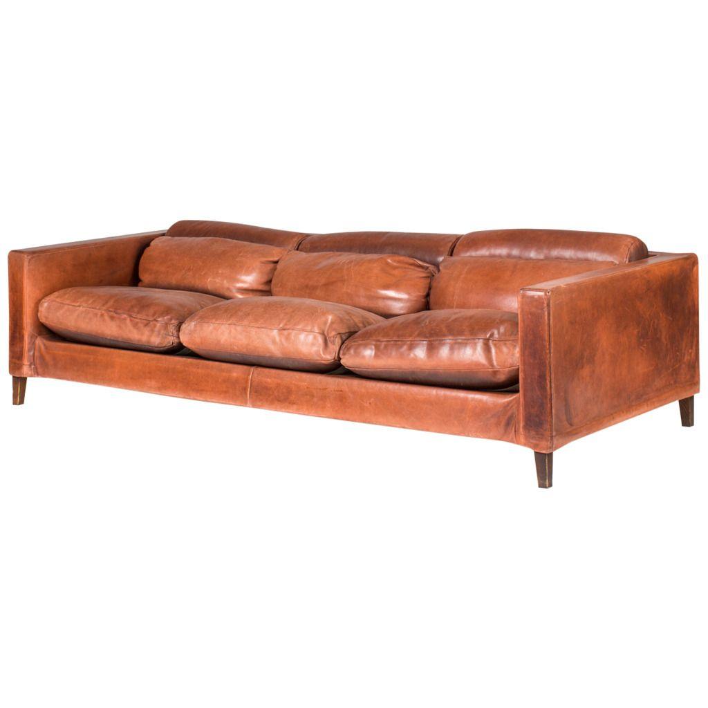Italian Buffalo Leather Sofa