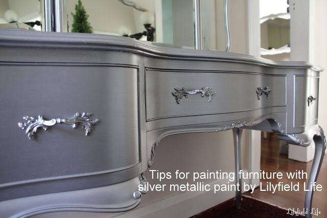 Lilyfield Life Tips On Using Metallic Paint And A Silver Painted Dressing Table Set