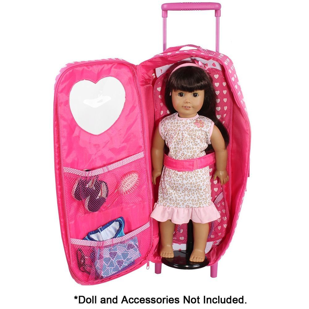 American Girl Doll Travel Set 18 Inch Suitcase Bag Bed Baby Case Accessories Toy Doll Clothes American Girl American Girl Doll Room Girl Dolls
