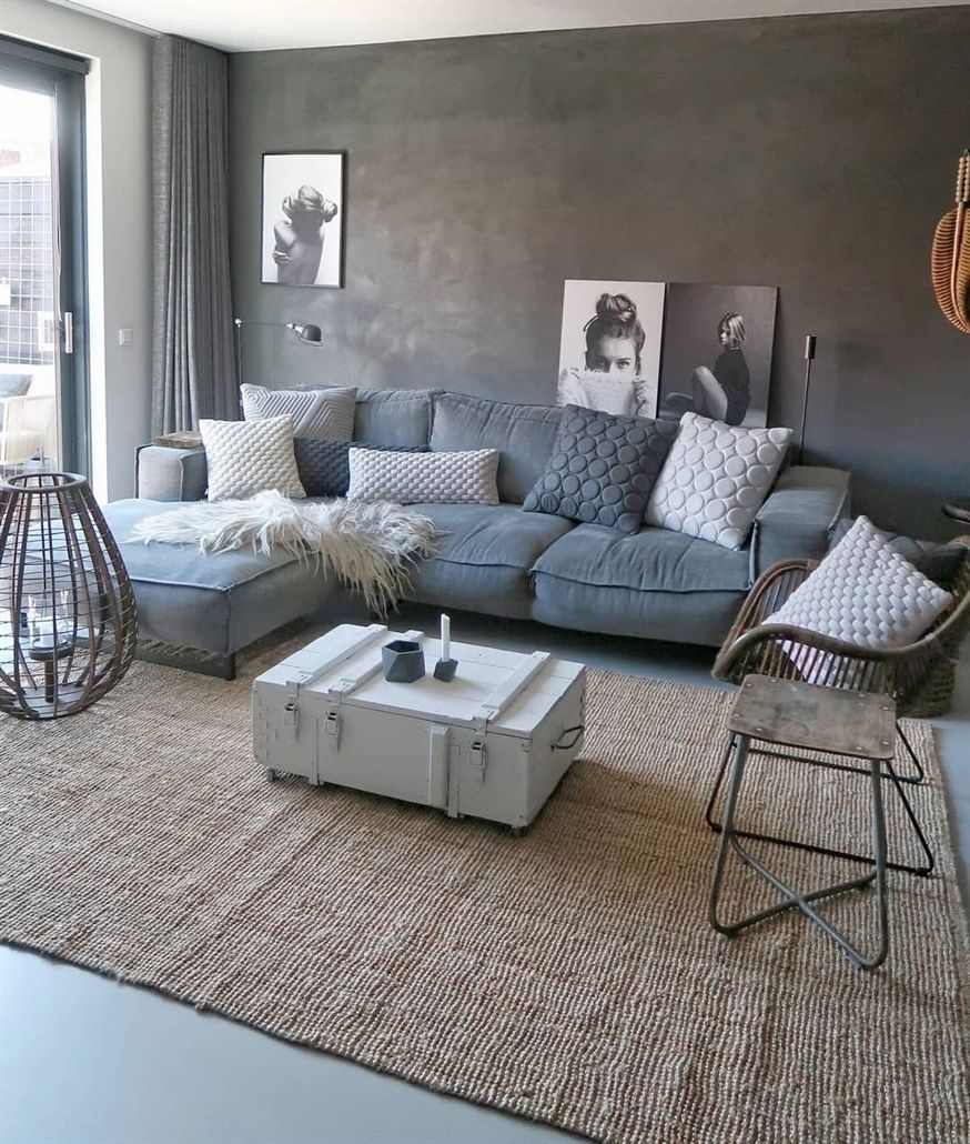 Remarkable Our Livingroom I Just Love All The Greys A Comfy Grey Squirreltailoven Fun Painted Chair Ideas Images Squirreltailovenorg