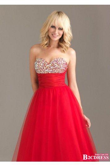#red #evening #dress