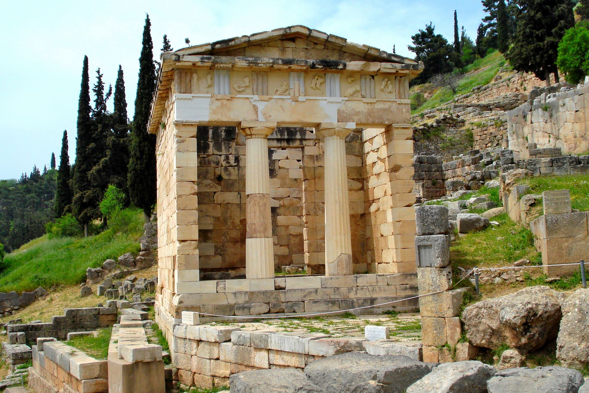 Athenian Treasury C 500 Bc Delphi Greece Greece Ancient