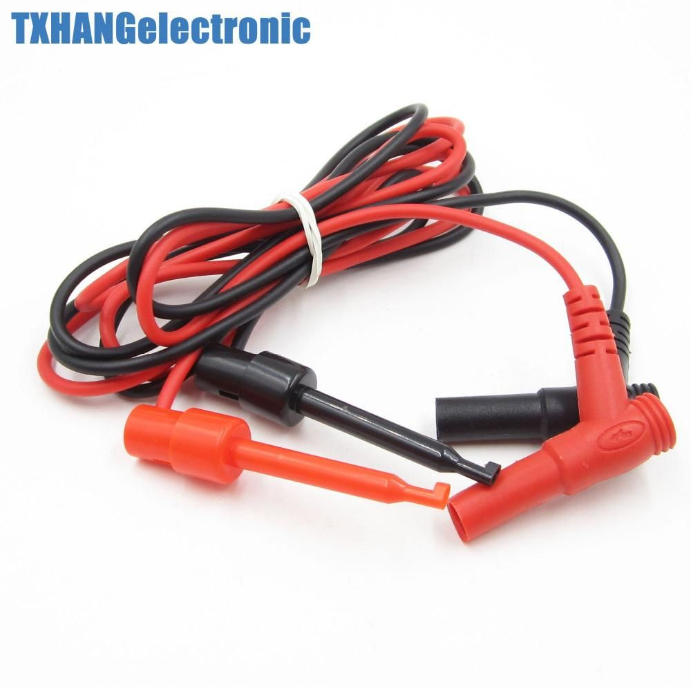 1pair Banana Plug To Test Hook Clip Probe Cable For Multimeter Test Equipment