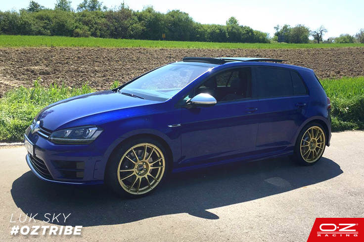 oztribe feast your eyes on this golf 7 r in lapiz blue with our ultraleggera race gold thank. Black Bedroom Furniture Sets. Home Design Ideas