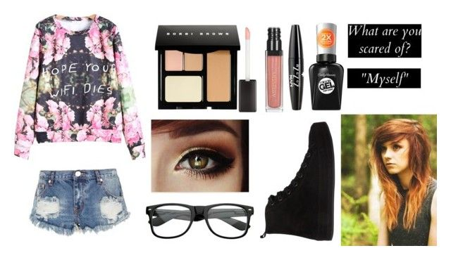 """"""":) don't know what to call this"""" by demigod-wizard-tribute-elf ❤ liked on Polyvore featuring Bobbi Brown Cosmetics, Sally Hansen, NYX, One Teaspoon, Ann Demeulemeester and claudias2ksetcontest"""