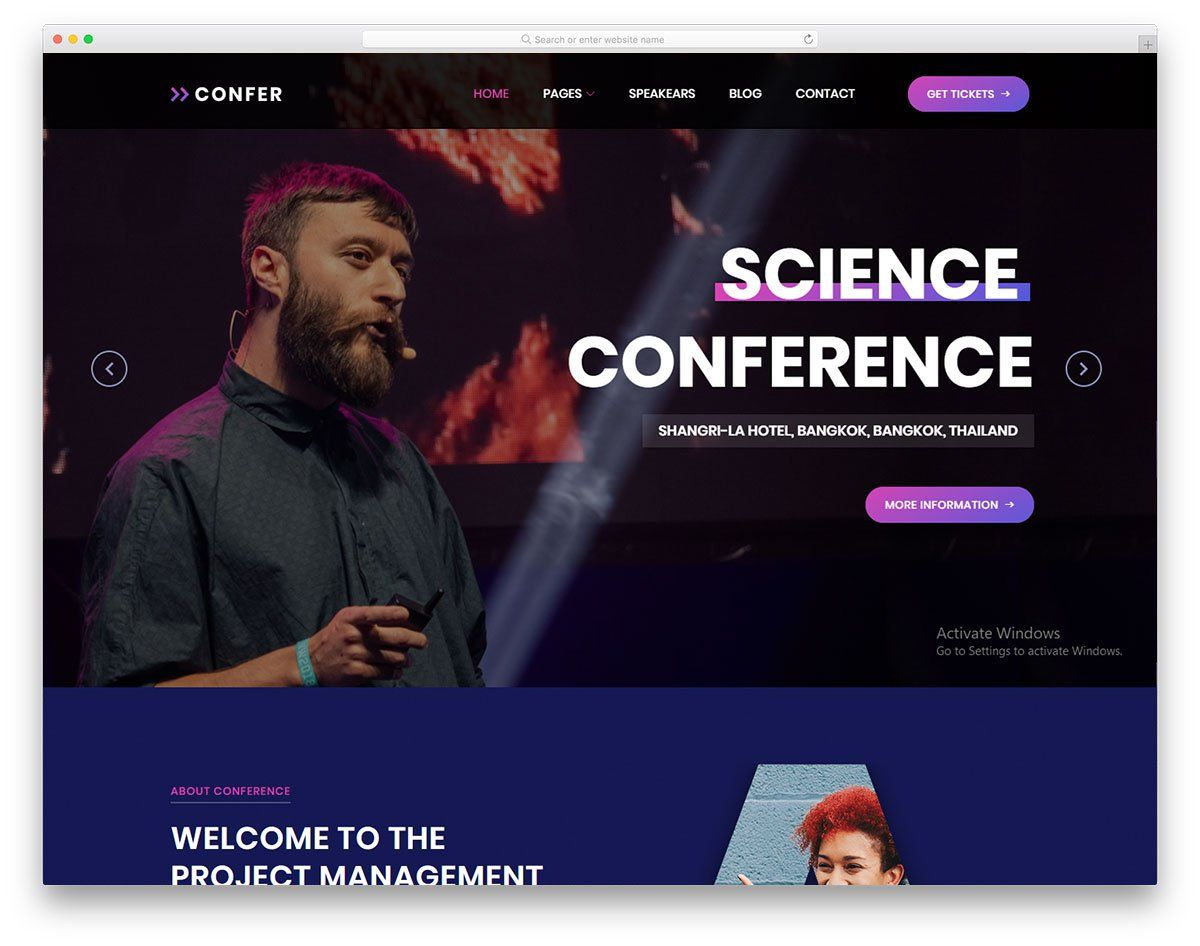 Confer Free Html Conference Website Template 2020 Colorlib Event Website Free Event Conference