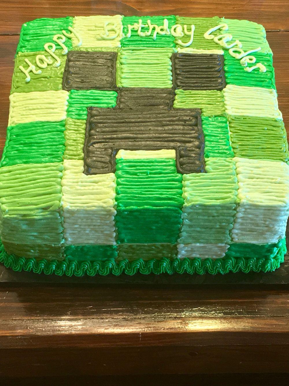 Minecraft Creeper Cake Minecraft Birthday Cake Creeper Cake Boy Birthday Cake