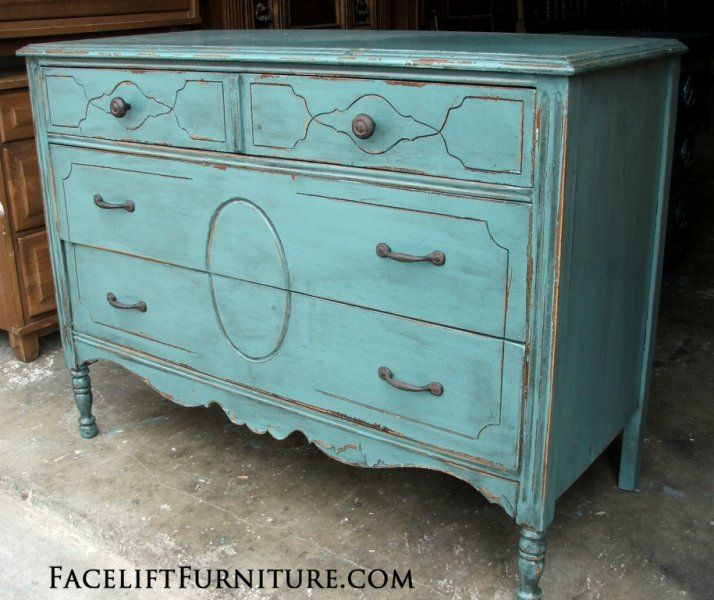 Dressers Painted Glazed Distressed Blue Dresser Dresser And Blue Furniture