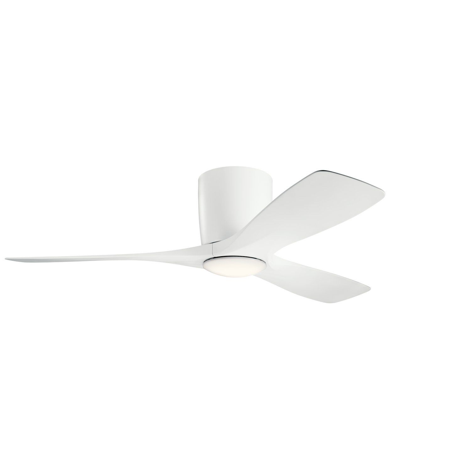48 Ceiling Fan From The Volos Collection In Matte White Finish In 2021 Flush Mount Ceiling Fan Led Ceiling Fan White Ceiling Fan