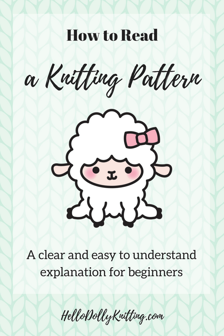 How To Read A Knitting Pattern Pinterest Knitting Patterns