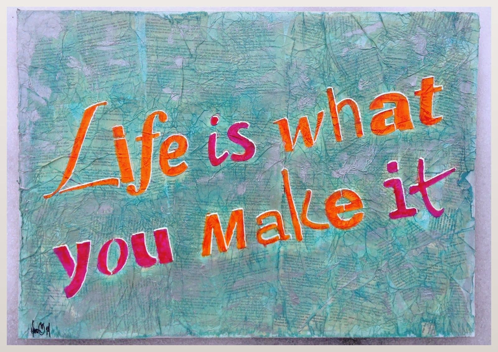 Lerret med sitat | Livet er det som skjer mellom bølgene ...