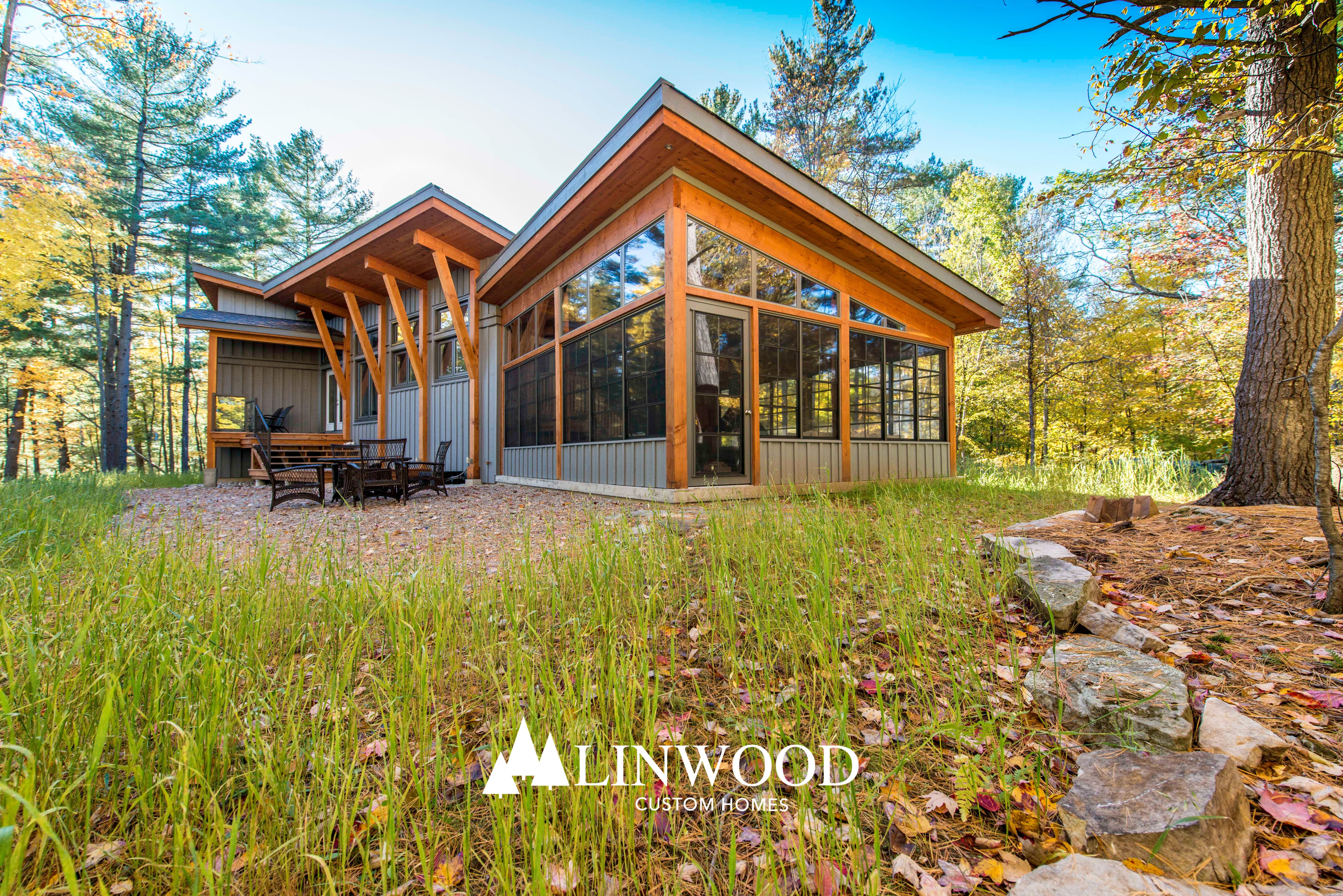 Modern West Coast Style The Newboro By Linwood Homes Modern Style Homes Contemporary House Plans Linwood Homes