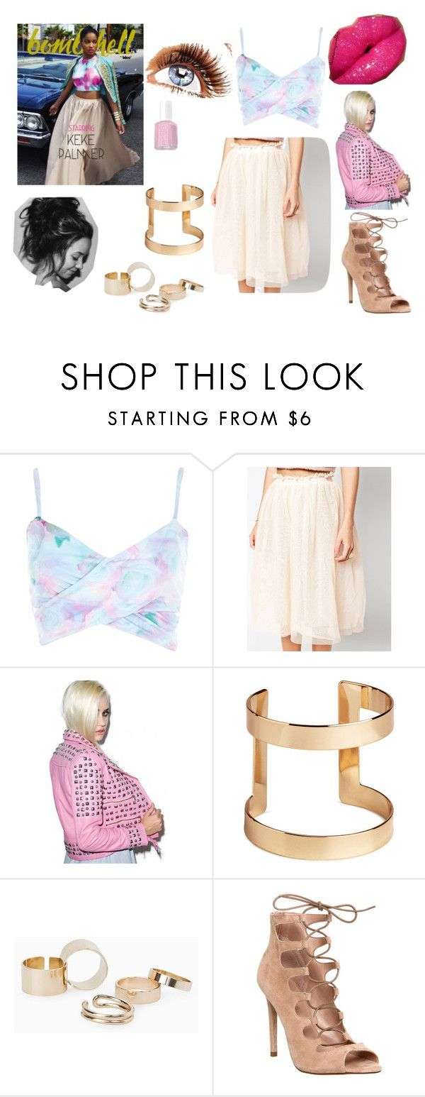 """Dress like STARS for less"" by lyahlove05 ❤ liked on Polyvore featuring River Island, Kill Star, H&M, MANGO, Office, Essie and Reinvent"