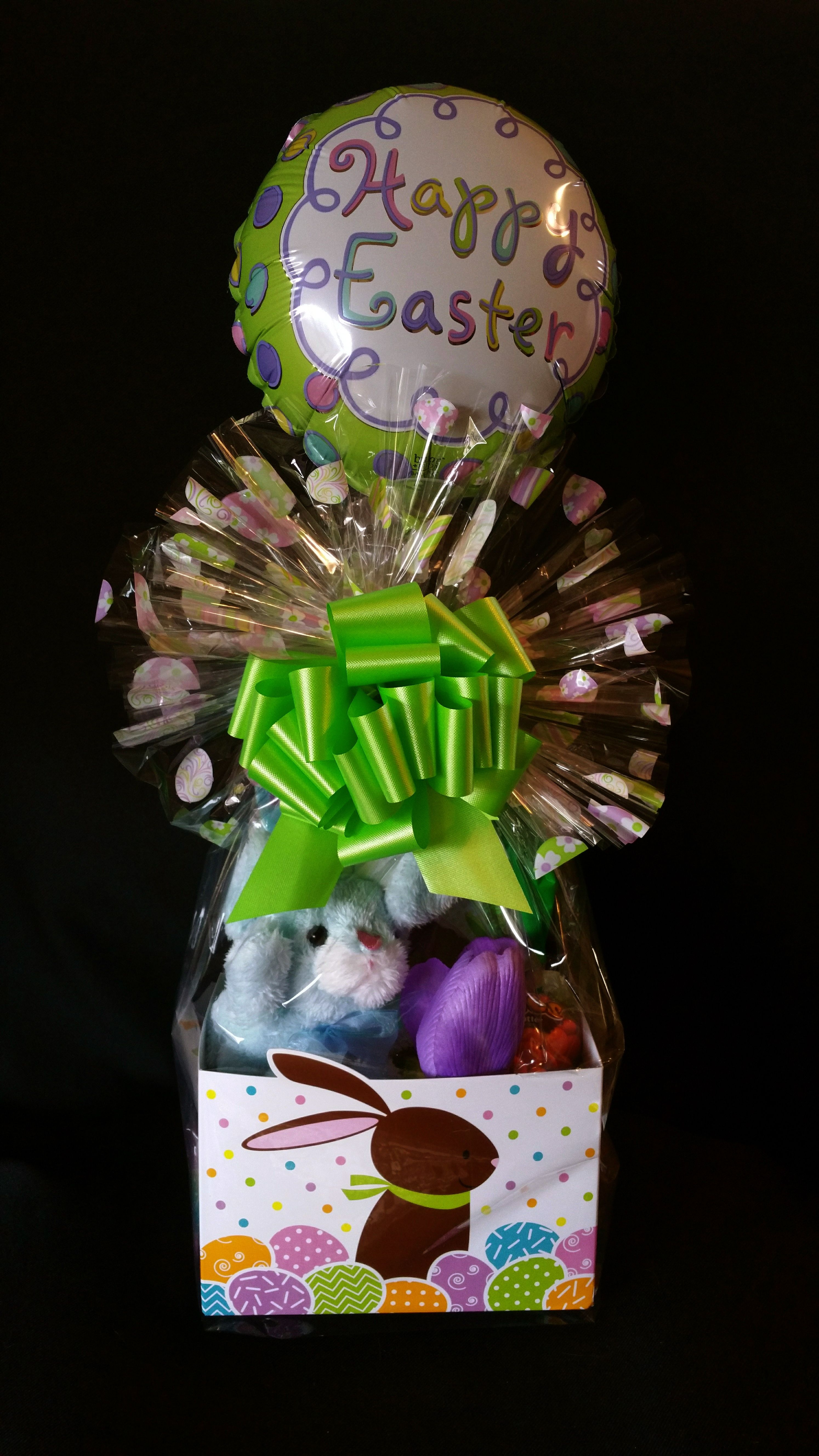 Easter gift basket with balloon small large available 1495 easter gift basket with balloon small large available 1495 1995 includes negle Images