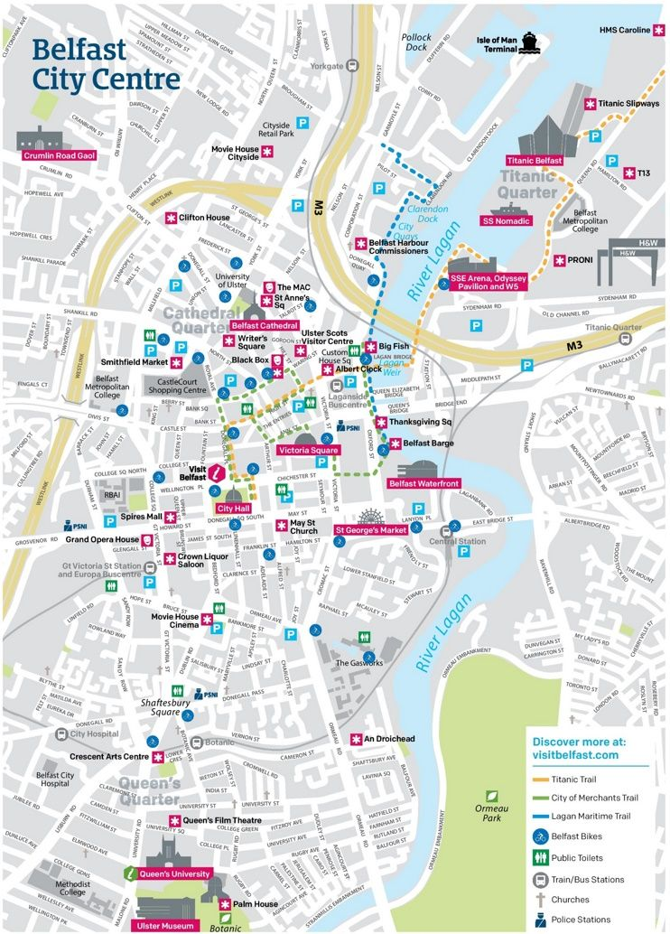 Belfast city center map Maps Pinterest Belfast and City