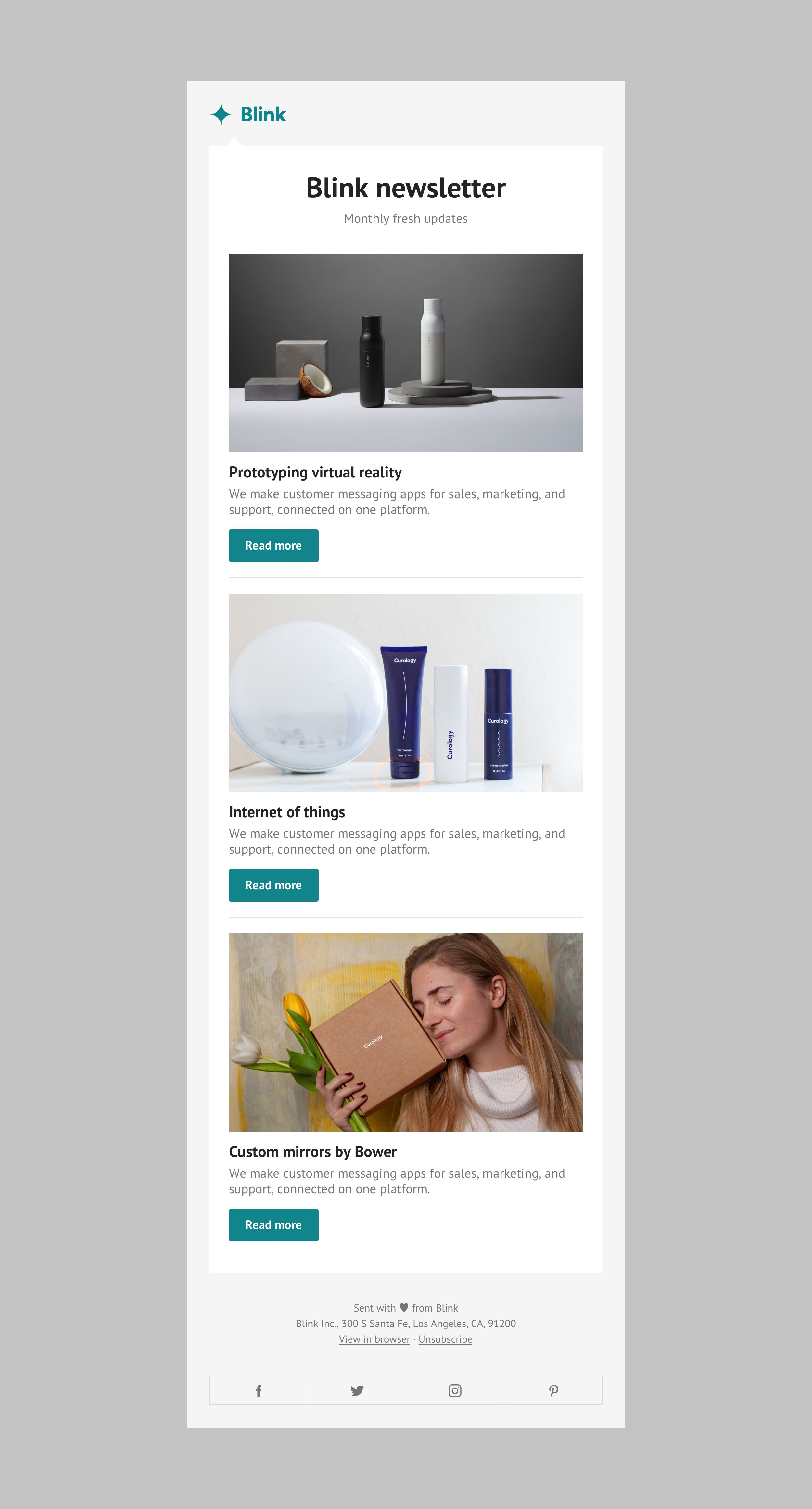 Email Marketing Template Designs Blink Email With Images