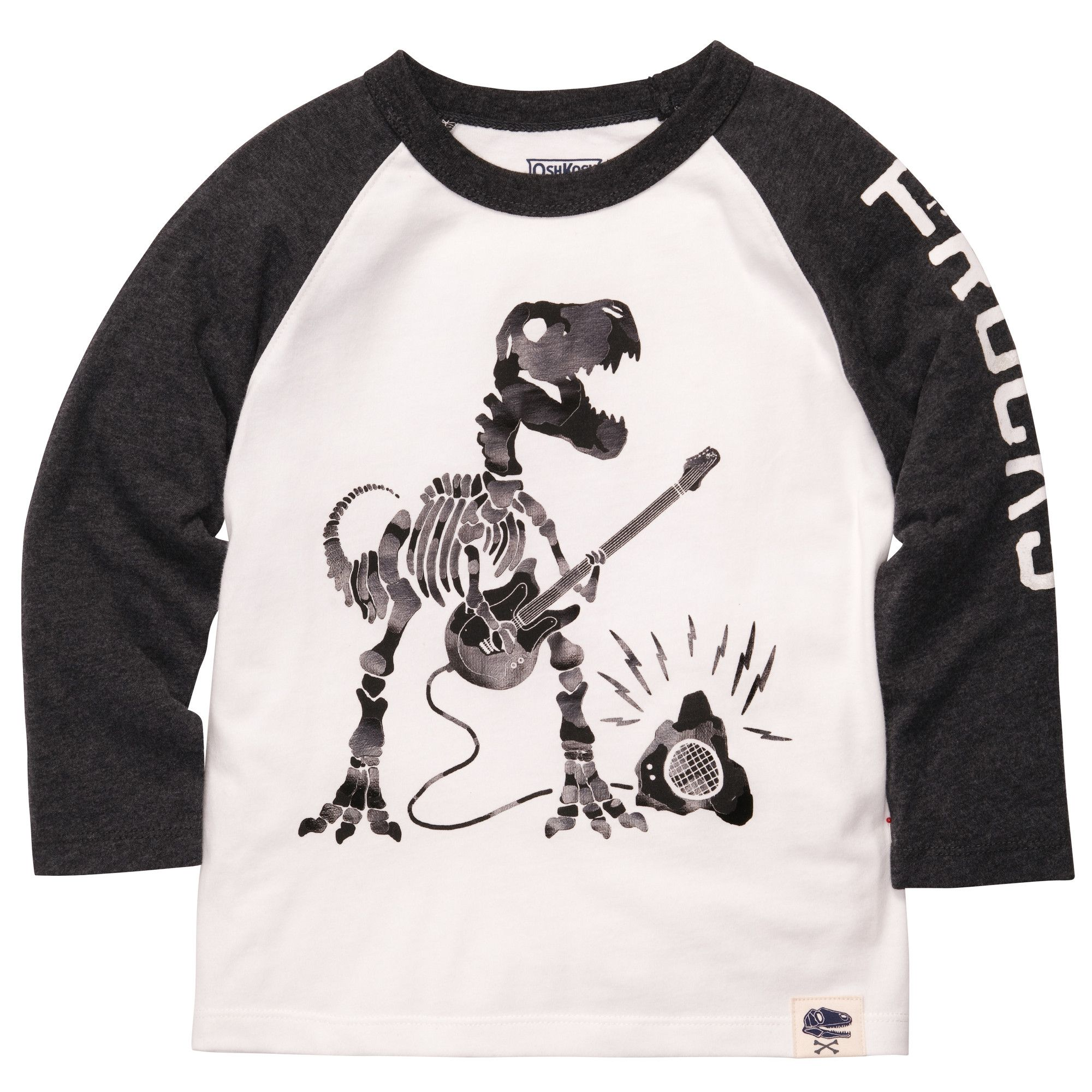 Funny t shirts for kids Long sleeve Dino