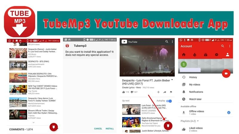 YouTube to MP3 320kbps TubeMp3 YouTube Downloader App