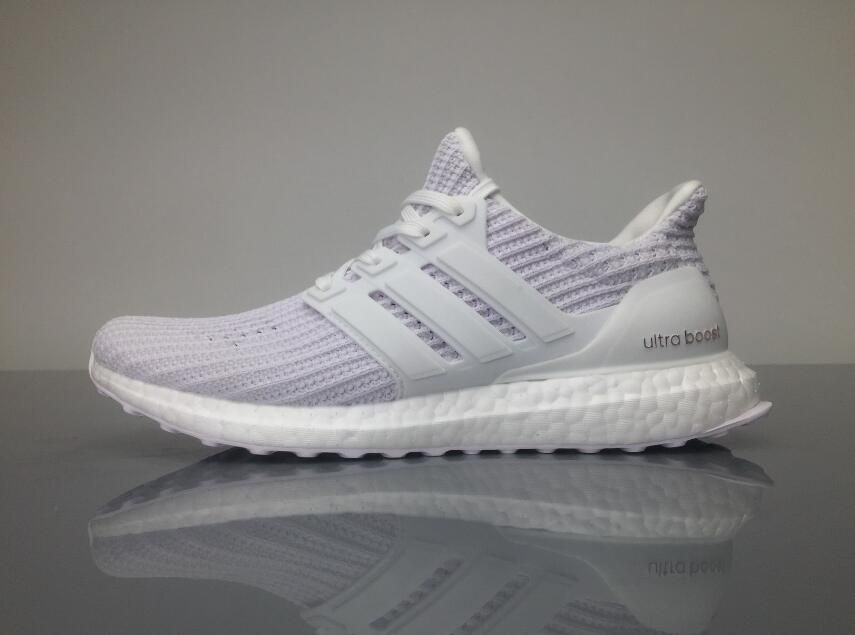 Adidas Ultra Boost 4 0 BB6168 White Grey Real Boost