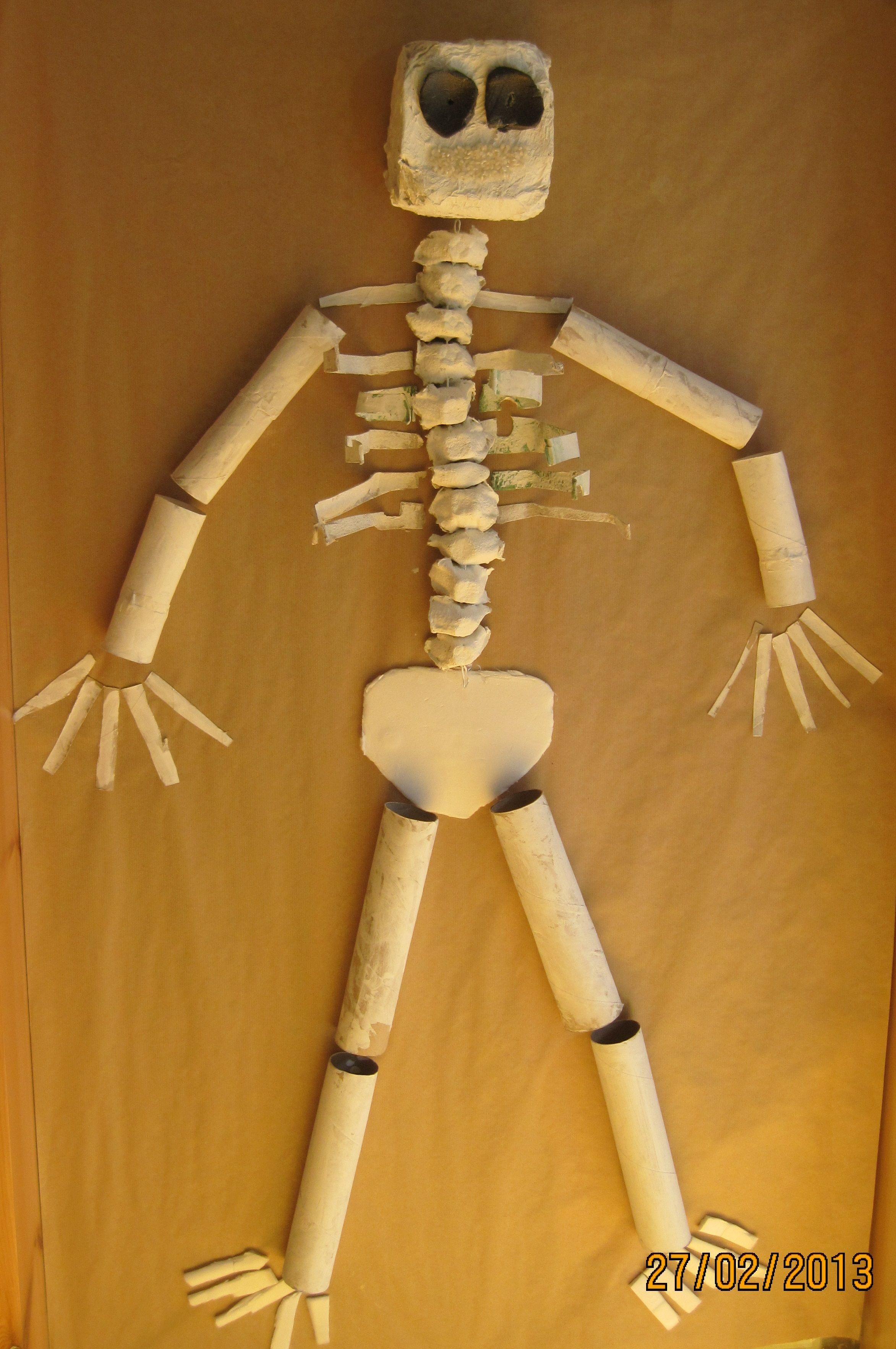 Un esquelet fet de material de reciclatge. | Esquelet | Pinterest ...