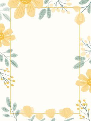 fresh wedding border flowers hand drawn background