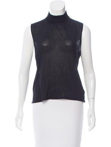 Gucci Sleeveless Mock Neck Top