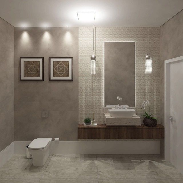 lavabo lindoo! #atosarquitetura #lavabo #banheiros #ceramicaportinari #sidesh -> Pia De Banheiro Sketchup
