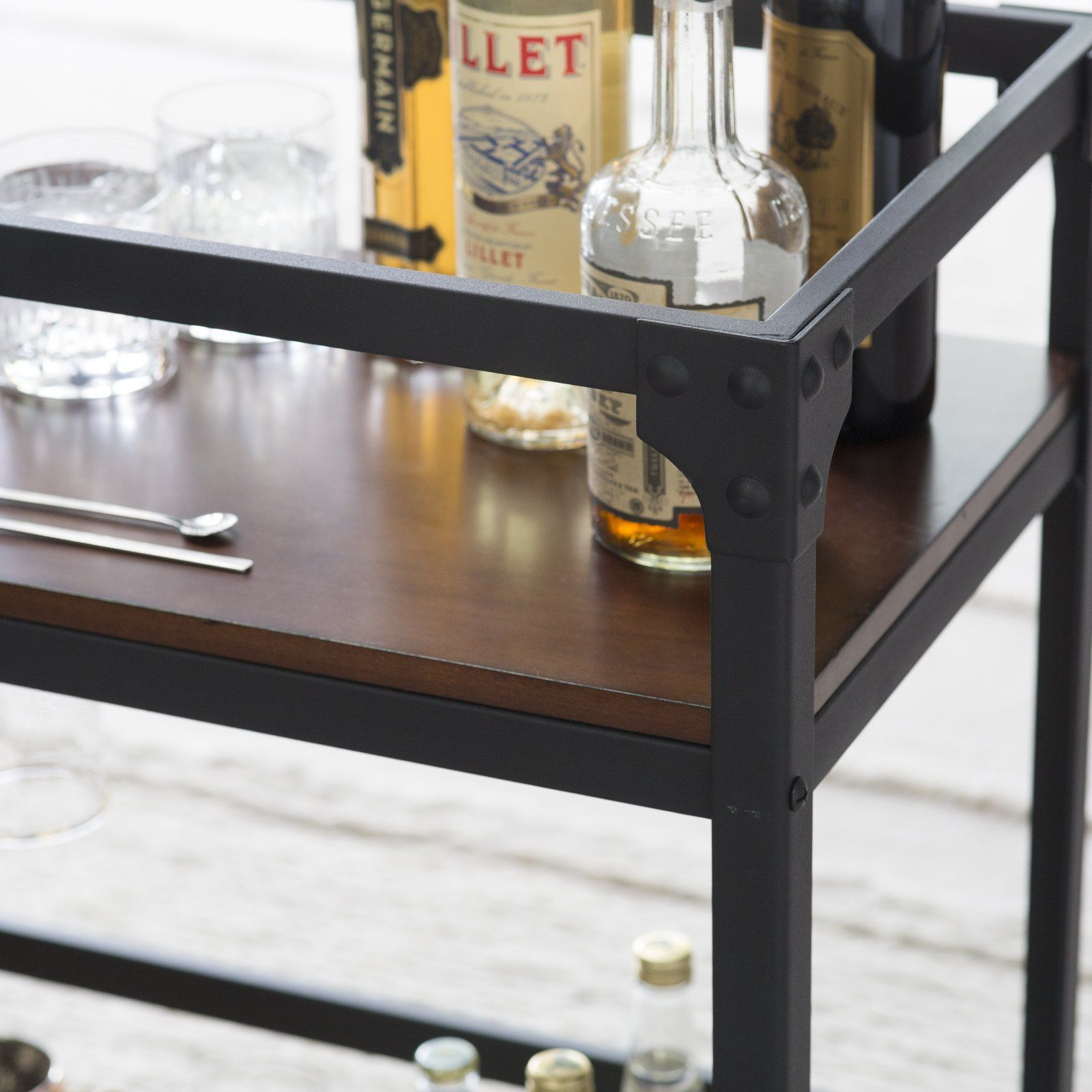 Home Stemware holder, Engineered wood, Portable bar