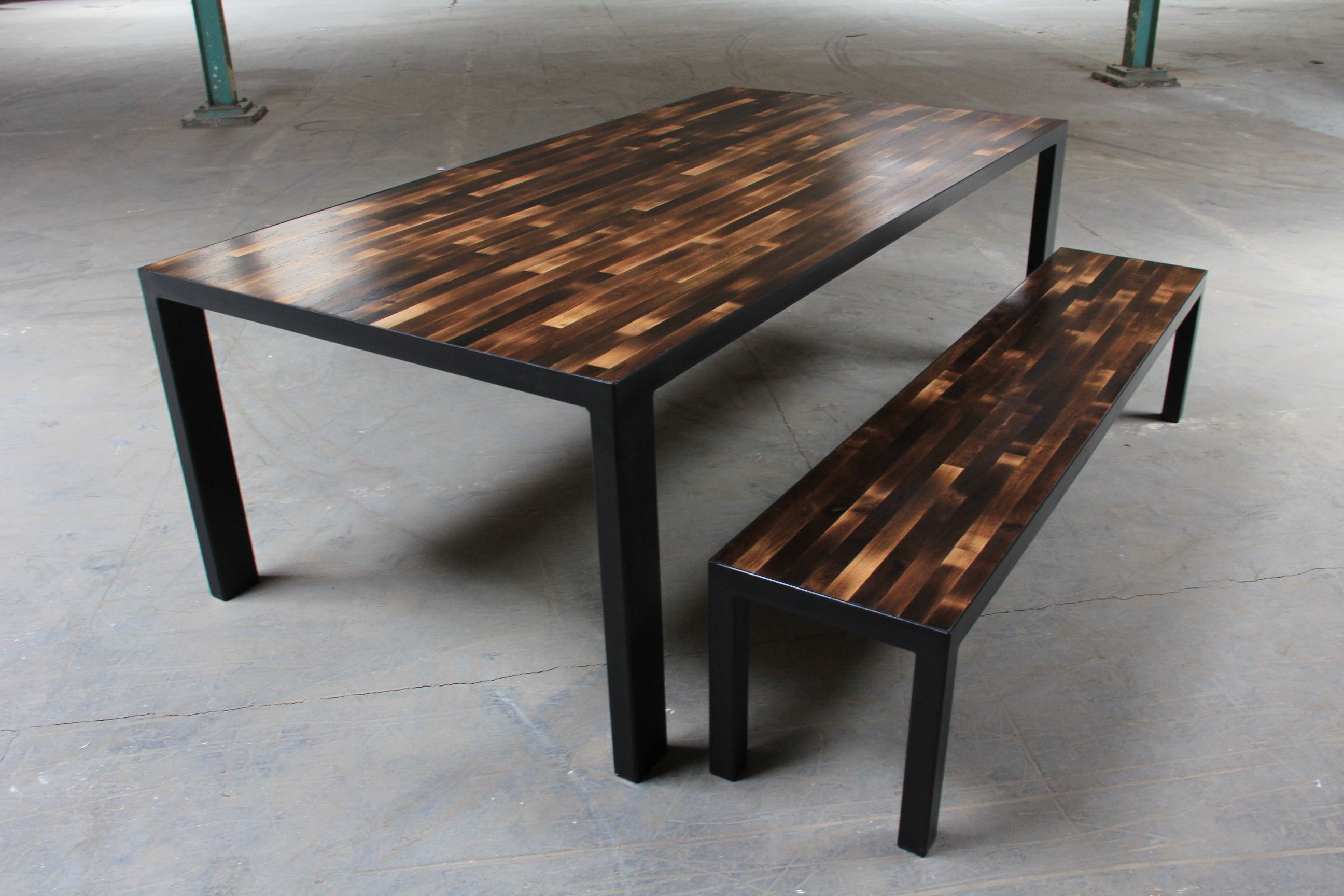 Parsons Table Made From Recycled Wine Barrels Color Comes Natural