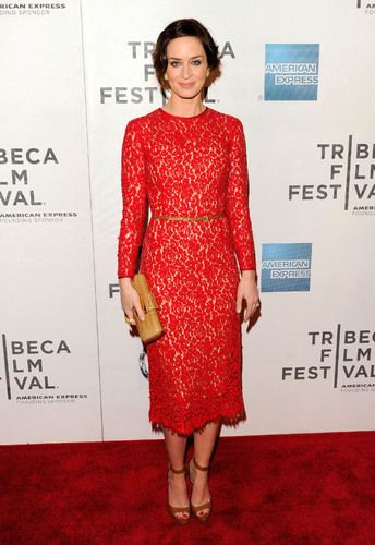 Emily Blunt's Red Dress Is a Red Carpet Yes