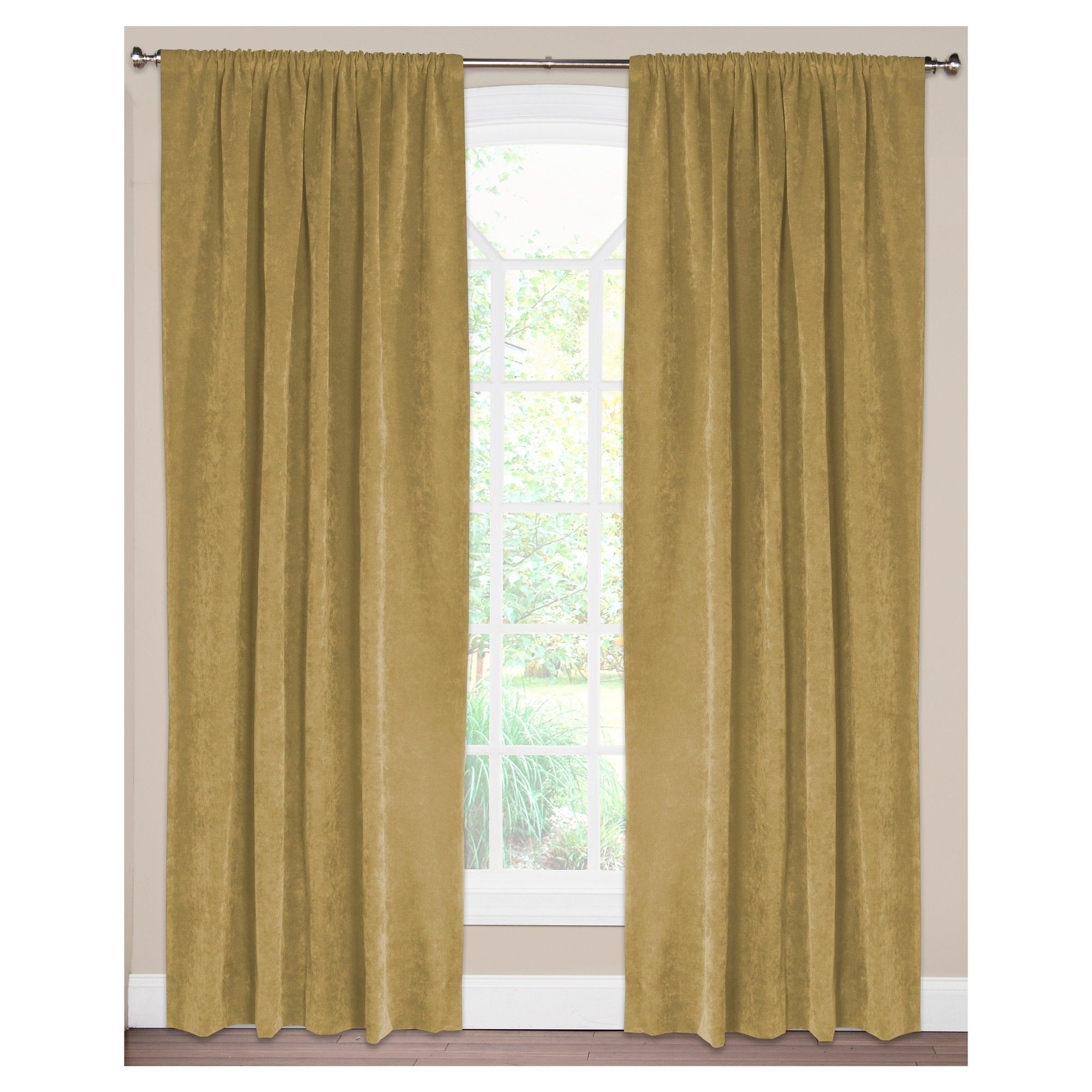 Siscovers Padma Old Gold Curtain Panel  Padma Old Gold