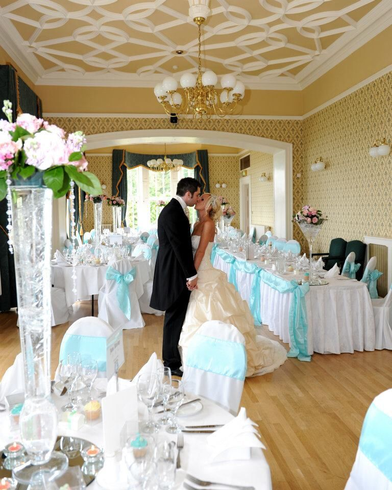 Our Tiffany Blue Theme Reception Room At Belfast Castle