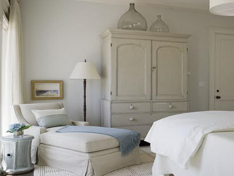 I Like This Bedroom Chaise, White Linens And I Love The Glass Jars Too.