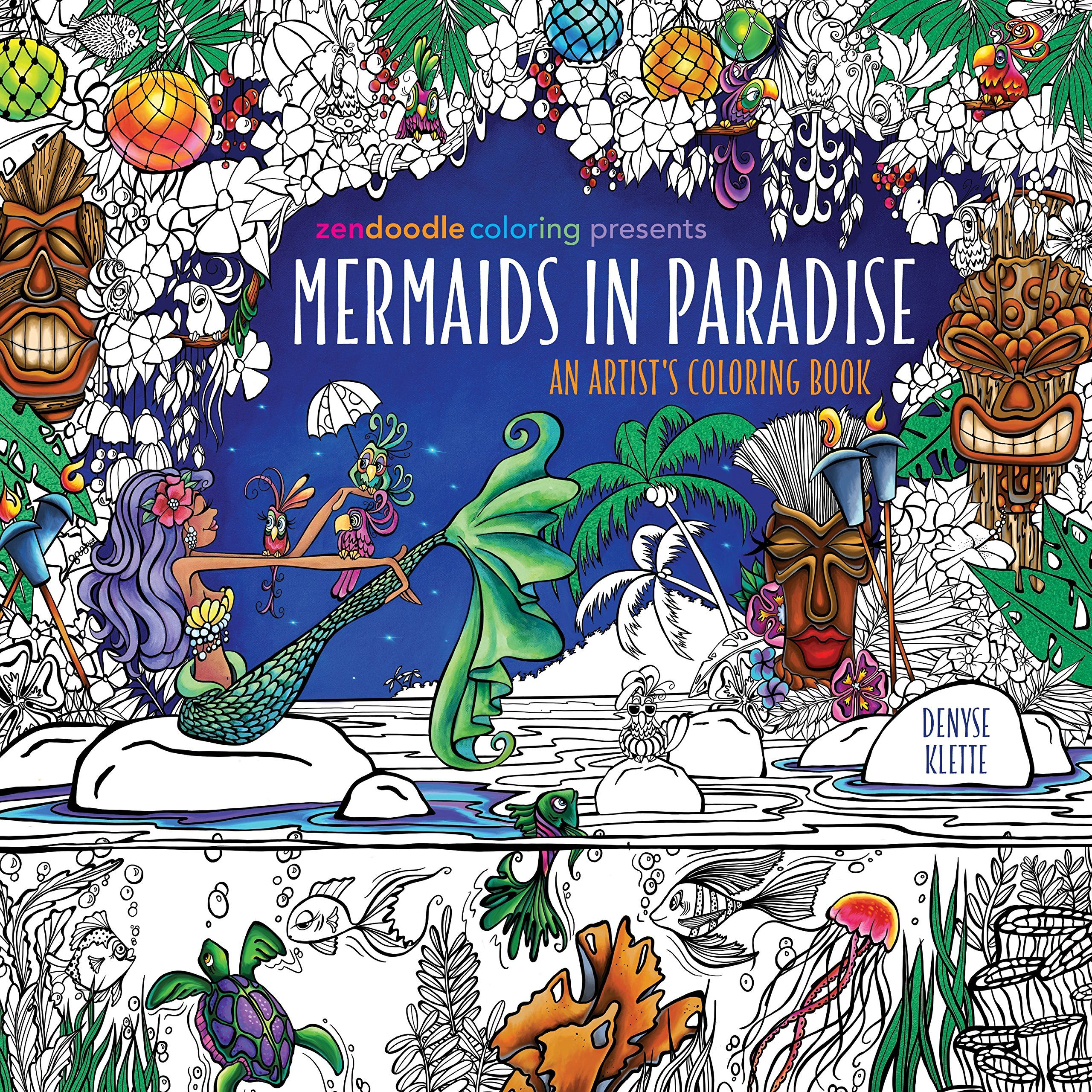 Amazon Zendoodle Coloring Presents Mermaids In Paradise An Artists Book