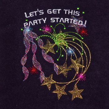 New Years Happy Celebration Party Occassion Embroidery Design
