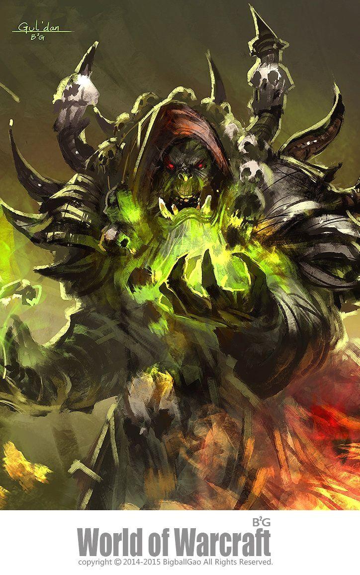 Gul Dan Warcraft Art World Of Warcraft Warcraft Orc Gul'dan es un asesino de rango que se especializa en el uso de magia vil para destruir a aquellos we're playing through every hero in hots from a to z. gul dan warcraft art world of