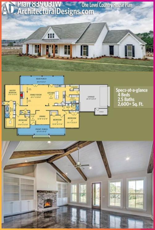 Plan 83903jw One Level Country House Plan Plan 83903jw One Level Country House Plan House Plans Farmhouse Country House Plan Country House Plans