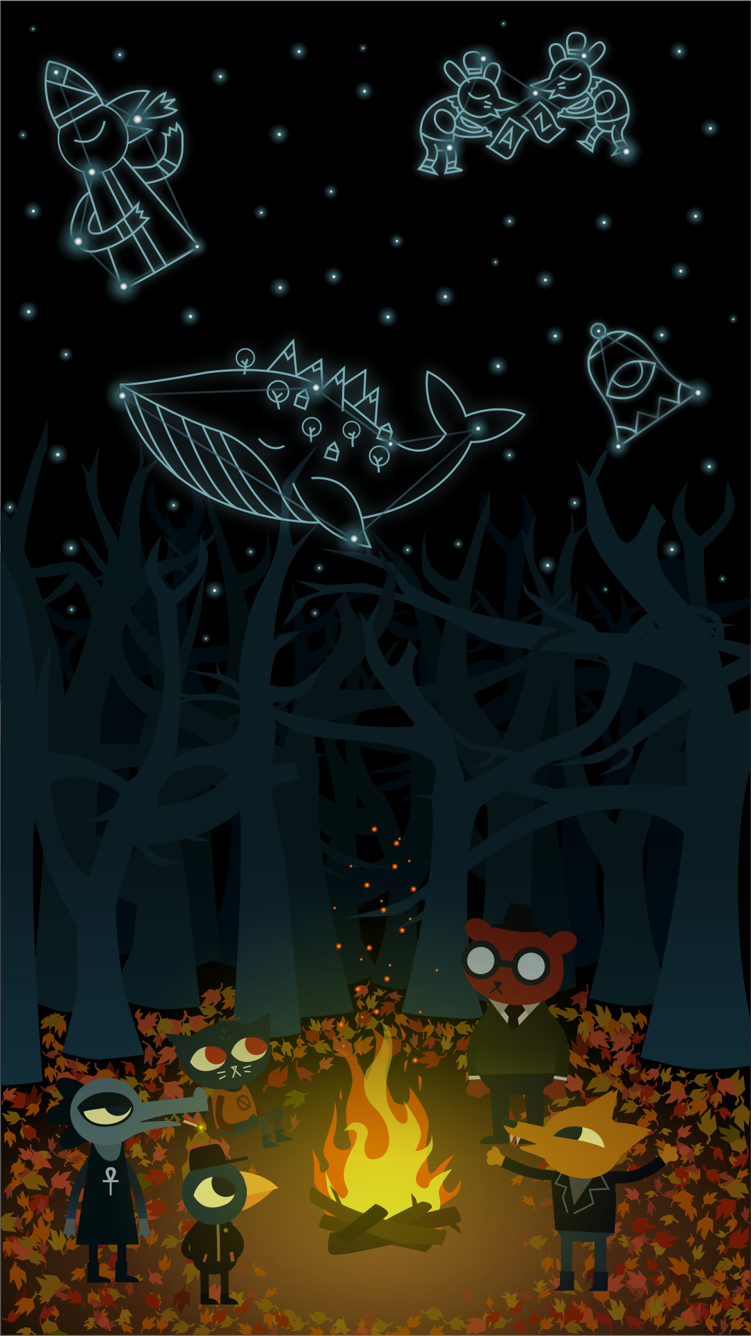 Night In The Woods Wallpaper Night In The Wood Phone Wallpaper For Men Wood Wallpaper