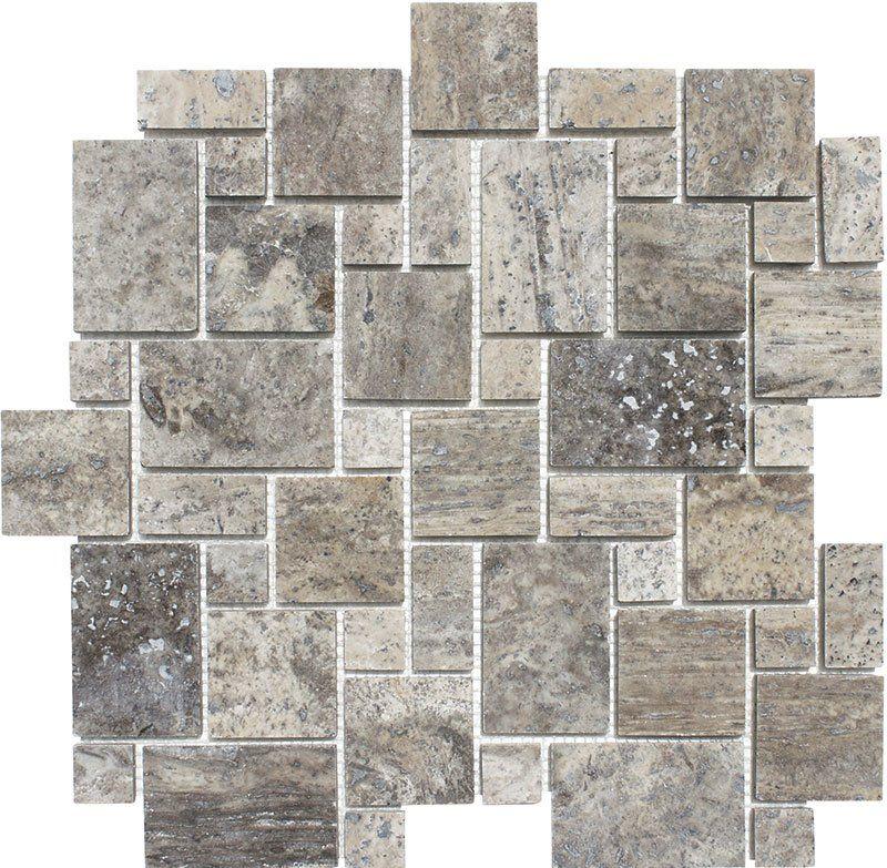 Mini Versailles Random Sized Travertine Mosaic Tile