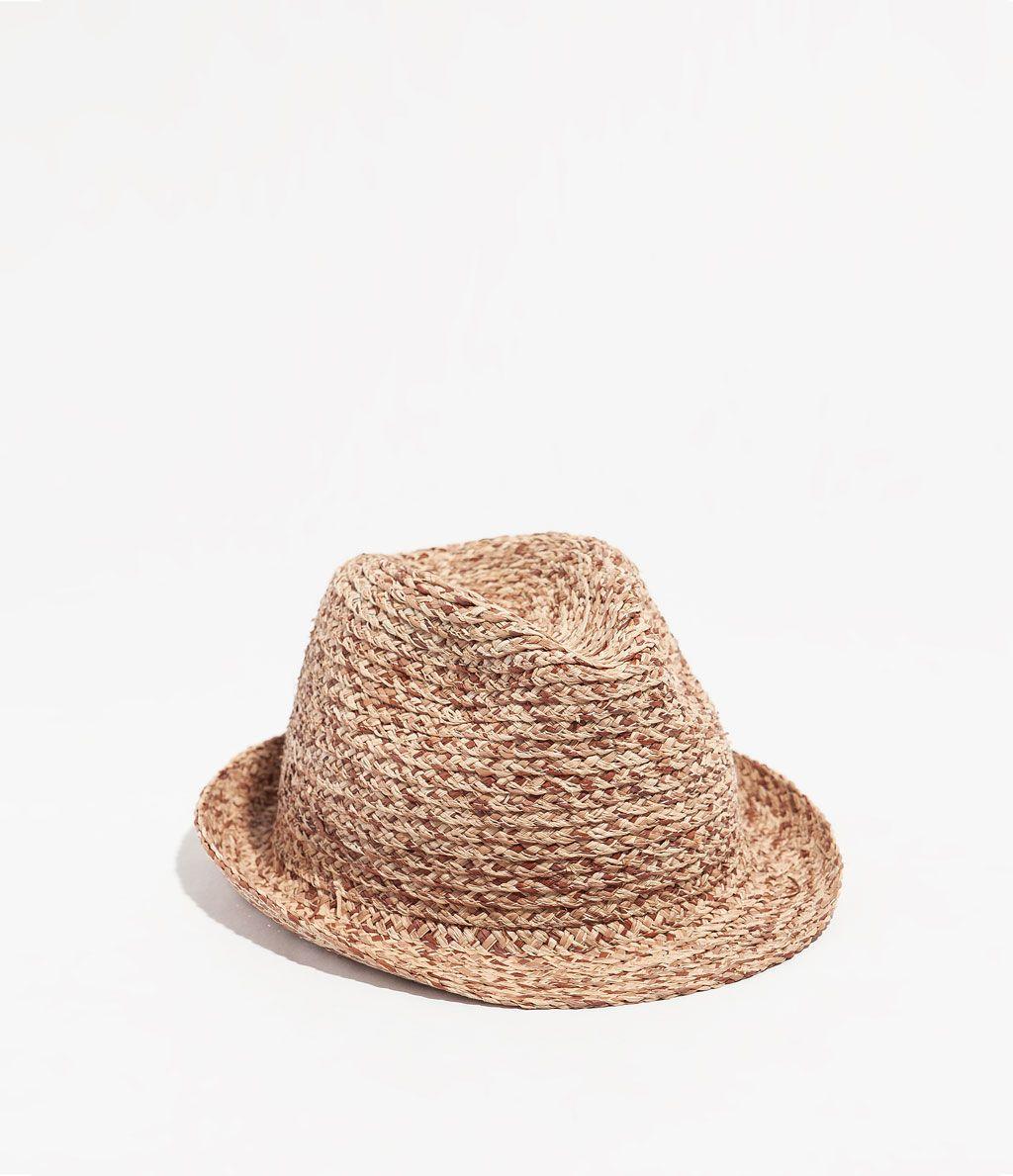 sombrero  bicolor  paja  · ZARA · 15 0314e485439