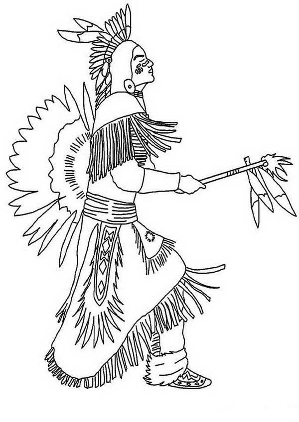 Nice Indian Coloring Book