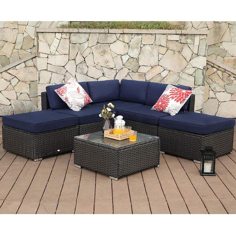 Phi Villa 6 Piece Outdoor Sectional Sofa Set Set 3 In 2019