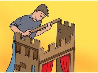 fabriquer un th tre de marionnettes pliable int rieur livios jeux pour enfants. Black Bedroom Furniture Sets. Home Design Ideas