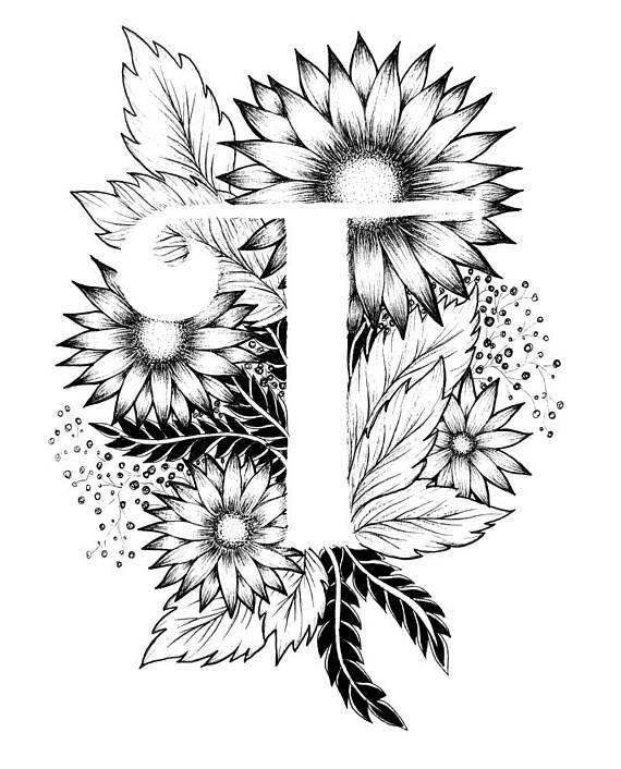 Letter T print - Alphabet, Calligraphy, Typography ...