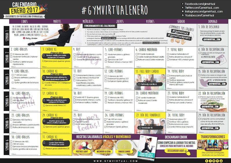 Calendario Septiembre Gymvirtual.Rutina Para Reducir Y Tonificar Brazos Paso A Paso New