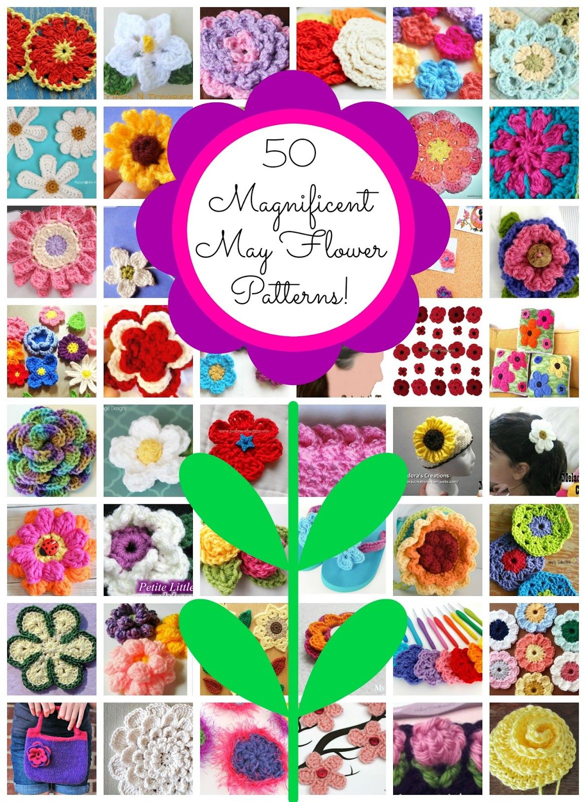 Magnificent May Flowers! 50 Free Crochet Patterns | Free crochet ...