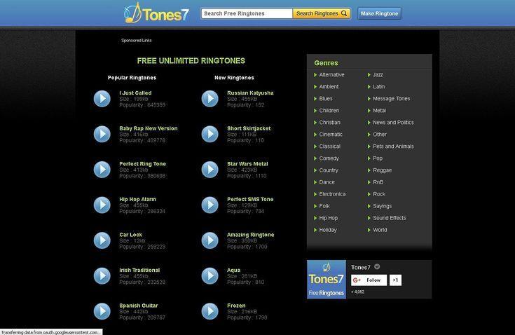 Free Ringtones: The Best Websites to Download Tones For Your Phone: Tones7